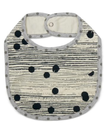 Tinker-by-Printink-Studio-Deep-Sea-Unisex-Dot-Stripe Bib-Oh-My-Golly-Gosh