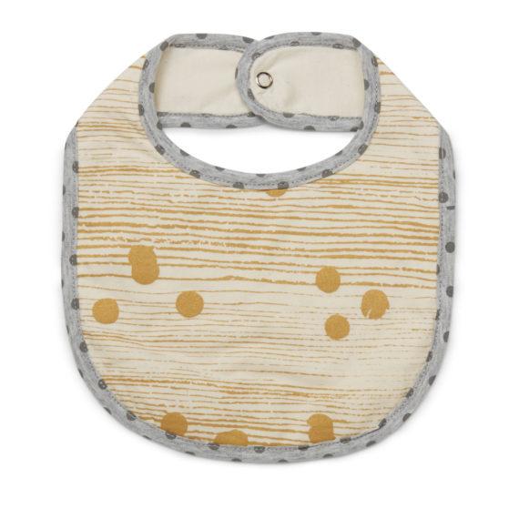 Tinker-by-Printink-Studio-Gold-Dot-Unisex-Stripe-Bib-Oh-My-Golly-Gosh