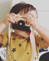 Behind-the-trees-black-ace-children-toy-camera-wooden-Oh-My-Golly-Gosh-unisex