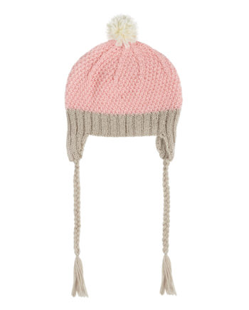 Acorn-Beanie-AW16-Light-Pink-Oatmeal-Cream-Girls-Oh-My-Golly-Gosh