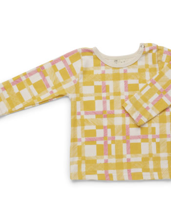 Tinker-By-Printink-Studio-Yellow-Tartan-long-sleeve-tee-Oh-My-Golly-Gosh
